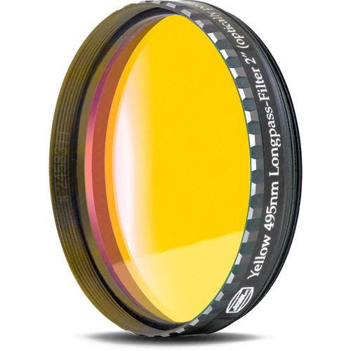"""Alpine Astronomical Baader Yellow Colored Bandpass Eyepiece Filter (2"""")"""