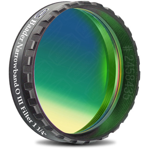 "Alpine Astronomical Baader 8.5nm Oxygen-III Enforced-Narrowband CCD Imaging Filter (1.25"" Eyepiece Filter)"