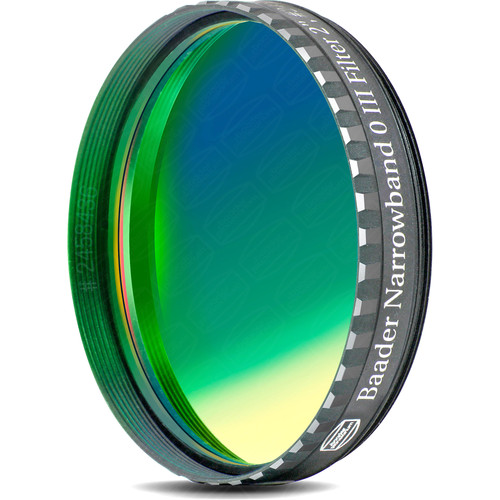 """Alpine Astronomical Baader 8.5nm Oxygen-III Enforced-Narrowband CCD Imaging Filter (2"""" Eyepiece Filter)"""