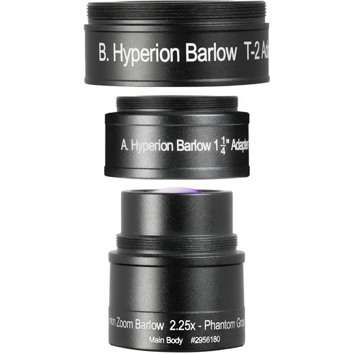 """Alpine Astronomical Baader Hyperion Zoom 2.25x Barlow Lens (1.25"""")"""
