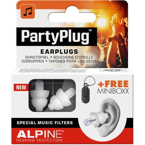 Alpine Hearing Protection PartyPlug Earplugs (White)