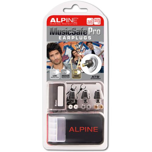 Alpine Hearing Protection MusicSafe Pro Earplugs (Black, 10-Pack)