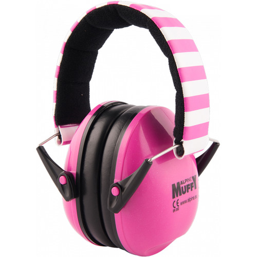 Alpine Hearing Protection Muffy Earmuffs for Children (Pink/White)