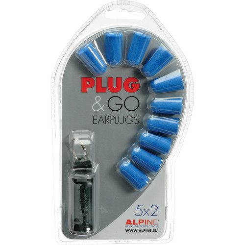 Alpine Hearing Protection Multi-Pack of Basic Earplugs (10)