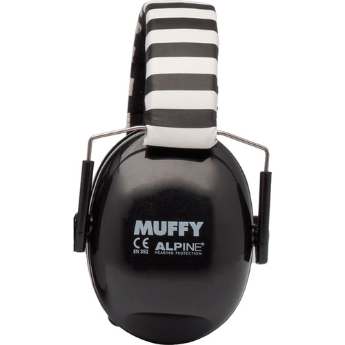 Alpine Hearing Protection Muffy Earmuffs for Children (Black)
