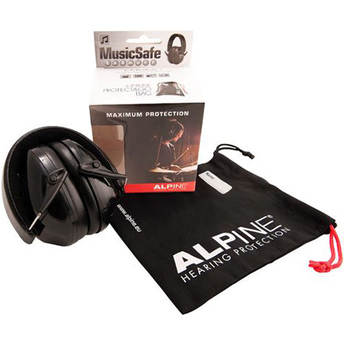Alpine Hearing Protection MusicSafe Earmuff for Musicians (Black)
