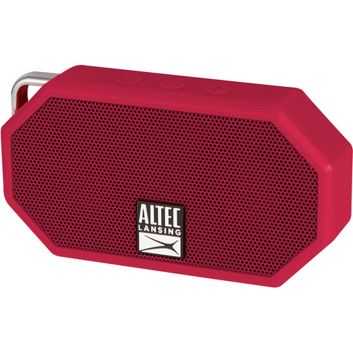 Altec Lansing Mini H2O 2 Bluetooth Wireless Speaker (Deep Red)
