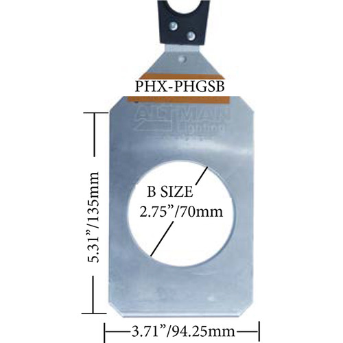 Altman PHX Steel Gobo Holder for Fixed Beam and Zoom Luminaires (Gobo Slot, B Size, 86mm)