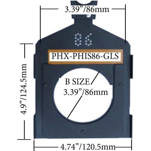 Altman PHX Glass Gobo Holder for Fixed Beam and Zoom Luminaires (Iris Slot, B Size, 86mm)