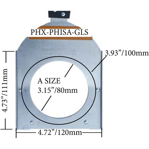 Altman PHX Glass Gobo Holder for Fixed Beam and Zoom Luminaires (Iris Slot, A Size, 100mm)
