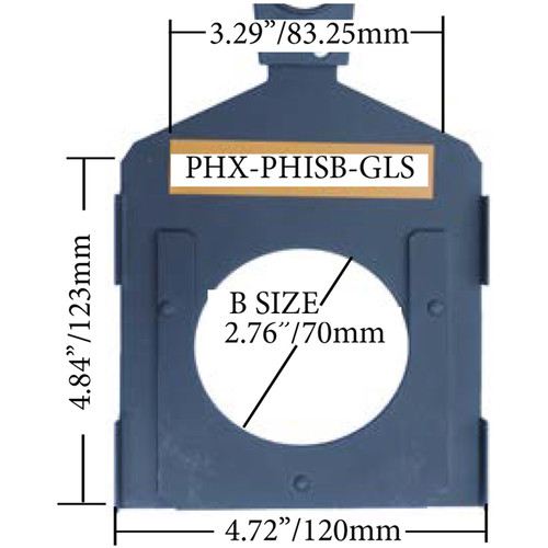 Altman PHX Glass Gobo Holder for Fixed Beam and Zoom Luminaires (Iris Slot, B Size, 82mm)