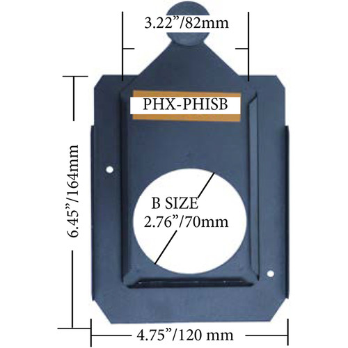 Altman PHX Steel Gobo Holder for Fixed Beam and Zoom Luminaires (Iris Slot, B Size, 82mm)