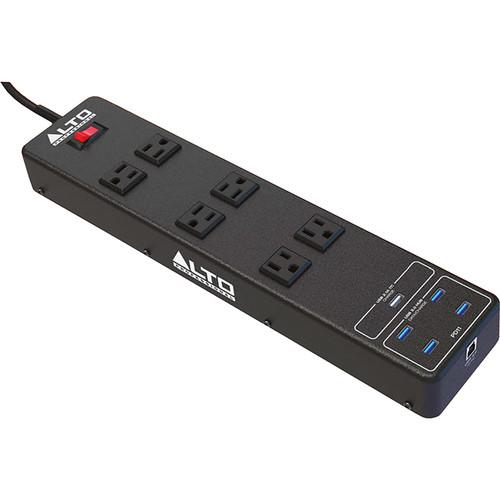 Alto Surge-Protected 6-Outlet AC Power Strip / 4-Port USB 3.0 Hub