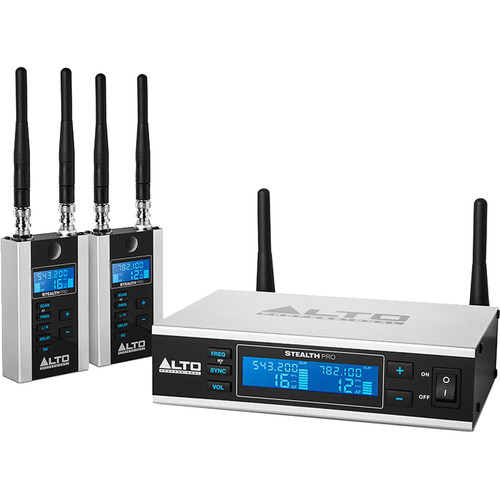 Alto Professional Stealth Pro 2-Channel Wireless Audio System for Active Loudspeakers (540 to 570 MHz)