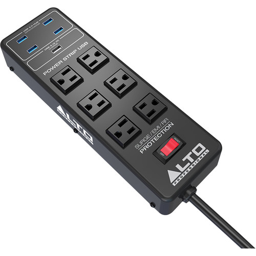 Alto Professional 6-Outlet Surge Protector with USB 3.1 Gen 1 Hub & Charging Port