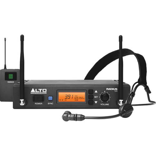 Alto Professional Radius 100 Professional UHF Diversity Wireless Microphone System with Headset Microphone