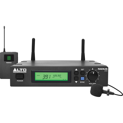 Alto Radius 200 Professional UHF Diversity Wireless Microphone System with Lavalier Microphone
