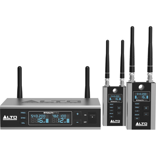 Alto Stealth Wireless Pro Professional Audio Connection System for Active Loudspeakers