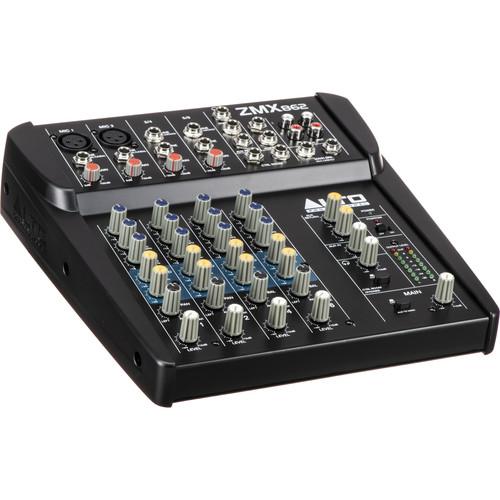 Alto Professional ZMX862 Zephyr Series 6-Channel Compact Sound Reinforcement Mixer