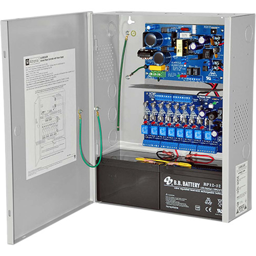 ALTRONIX Power Supply/Charger with 8-Output Access Power Controller (12VDC @ 4A / 24VDC @ 3A)