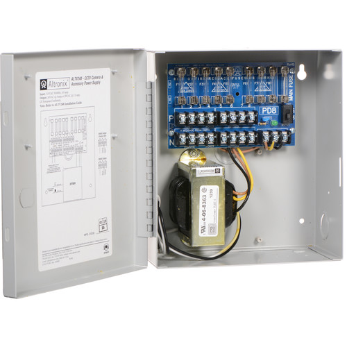 ALTRONIX CCTV Power Supply with 8 Fused Outputs (24 VAC at 4A / 28 VAC at 3.5A)