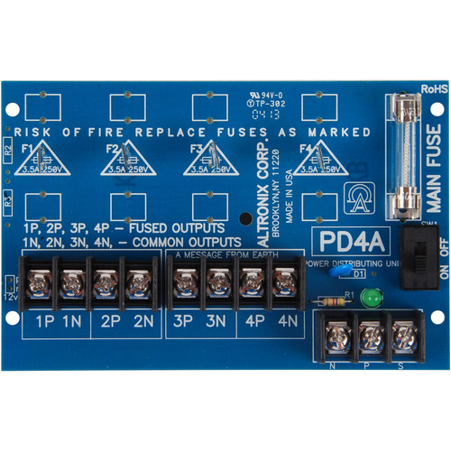 ALTRONIX Power Distribution Module AC/DC Input to 4 PTC Outputs