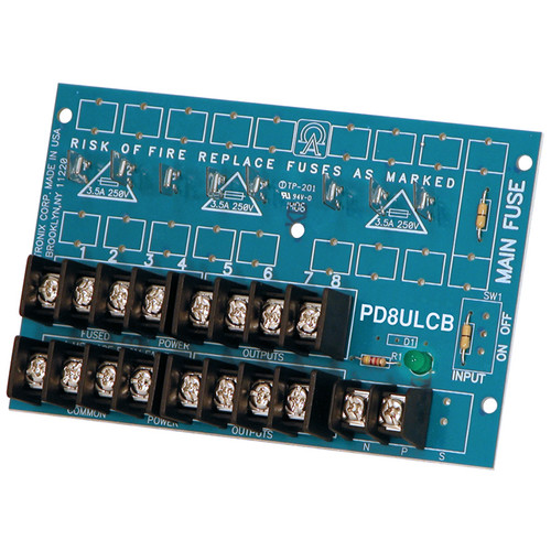 ALTRONIX Power Distribution Module Low-Voltage AC/DC Input to 8 PTC Outputs (UL Listed)