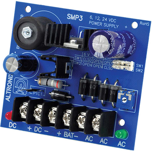 ALTRONIX Single-Output Power Supply Board (6/12/24VDC @ 2.5A)