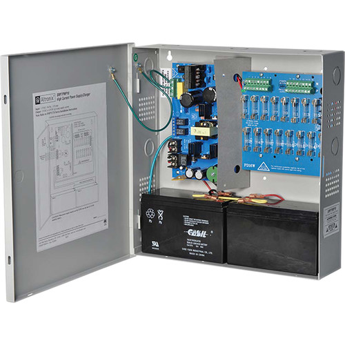 ALTRONIX Supervised Power Supply/Charger with 16 Fused Outputs (12/24VDC @ 6A, Gray)