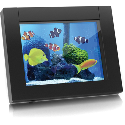 "Aluratek ADEQ108F eQuarium 8"" Digital Aquarium"