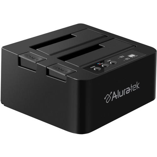 Aluratek USB 3.1 Gen 1 Superspeed Dual Bay External SATA Hard Drive Duplicator