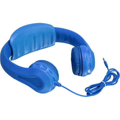 Aluratek Volume-Limiting Wired Foam Headphones (Blue)