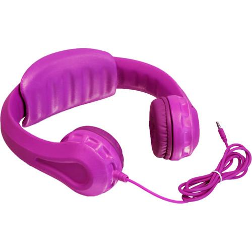 Aluratek Volume-Limiting Wired Foam Headphones (Pink)