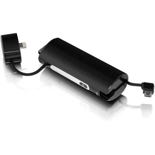 Aluratek 2600 mAh Portable Battery Charger for iPhone 5 and Galaxy Smartphones