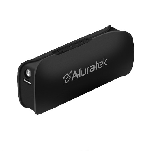 Aluratek 2600 mAh Portable Battery Charger with LED Flashlight (Black)