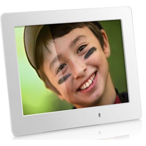 """Aluratek 8.0"""" LED Digital Photo Frame (White)"""
