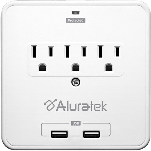 Aluratek Mini Surge Dual USB Charging Station with Holding Trays