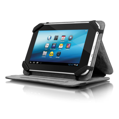 "Aluratek Universal Folio Travel Case for 7"" Tablets (Black)"