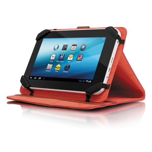 "Aluratek Universal Folio Travel Case for 7"" Tablets (Red)"