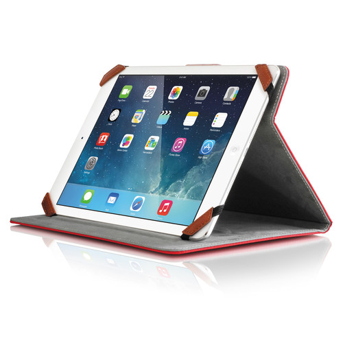 """Aluratek Universal Folio Travel Case for 8"""" Tablets (Red)"""