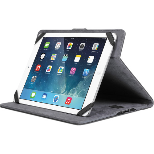 """Aluratek Universal Case for 9 to 10"""" Tablets with Built-in 2.1A USB Charging Station (Black)"""