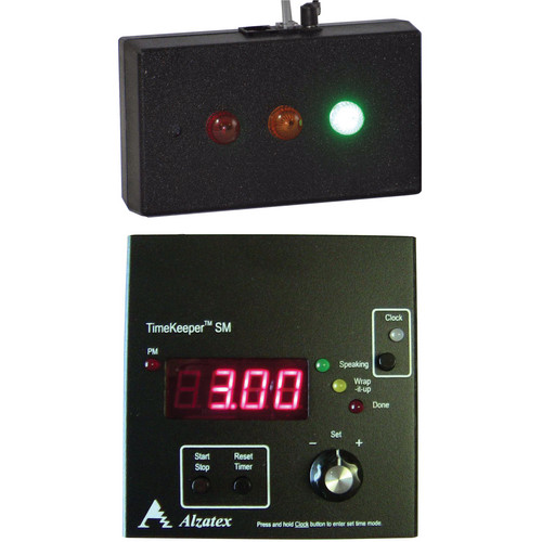 alzatex ALZM01B Presentation TimeKeeper System with LED Display (Black)