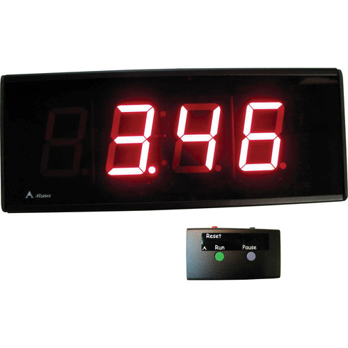 "alzatex DSP254B_U 4-Digit Race Clock with 2.33""-High Solid-Segment Digits"