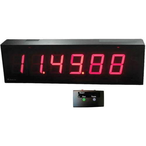 "alzatex DSP256B_U 6- Digit Race Clock with 2.33""-High Solid-Segment Digits"