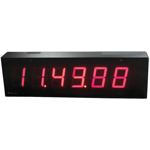 "alzatex DSP256BT 6-Digit Display with 2.33""-High Solid-Segment Digits (Black)"
