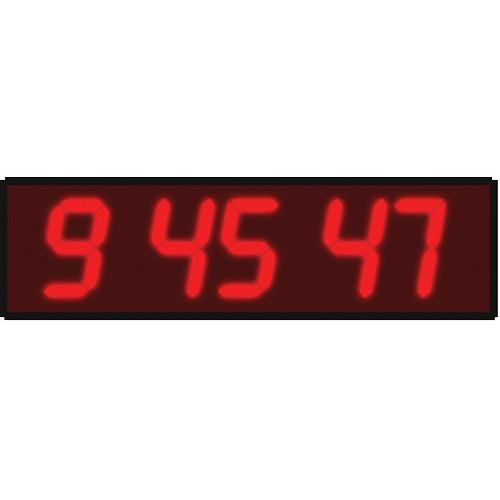"alzatex DSP506B6 6-Digit Display with 5"" High LED Digits (Black)"