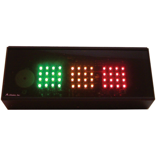 alzatex RYG200A Large Red-Yellow-Green Indicator (Black)