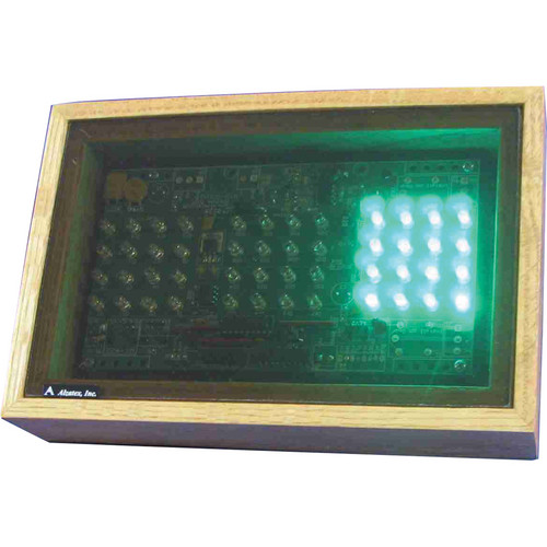 "alzatex RYG200A_OAK Green-Yellow-Red Display with 2 x 2"" LED Clusters"