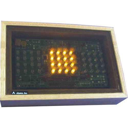 """alzatex RYG200AB_OAK Green-Yellow-Red Display with 2 x 2"""" LED Clusters"""