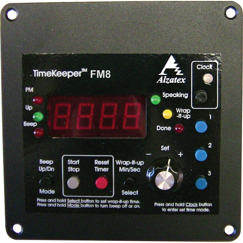 alzatex TMR221B8_FM Flush-Mount Count Up/Down Timer with Time-of-Day Clock
